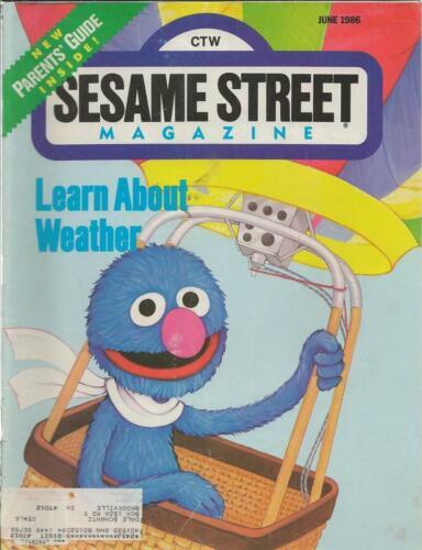ORIGINAL Vintage Sesame Street Magazine June 1986 Grover Cover
