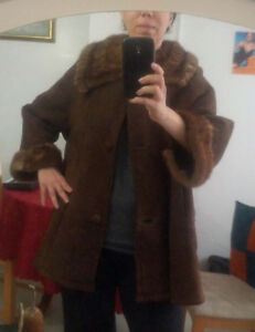 European leather with fur