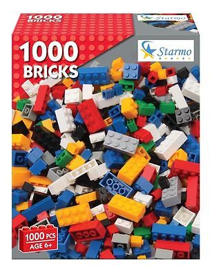 STARMO 1000 PIECE ASSORTED TOY CONSTRUCTION BUILDING BRICK SET BLOCKS LEGO BUILD