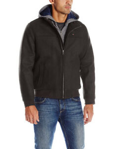 Tommy Hilfiger Mens Technical Wool Varsity  Bomber  NEW