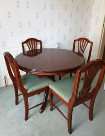Stained Pine Table & 4 Chairs - £35