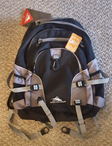 High Sierra Grey and Black Bookbag