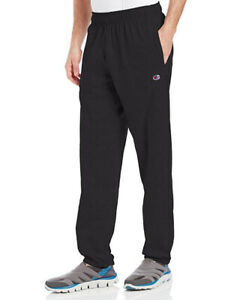 Champion Men's Closed Bottom Jersey Pant, Black, X-Large