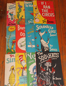 Dr Seuss hard cover books. vintage beginner books