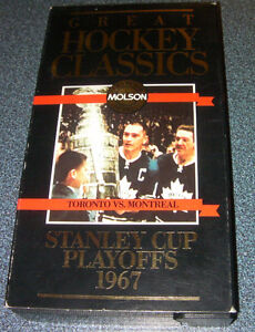 Very RARE 1967 Stanley-Cup-Playoff hockey VHS tape
