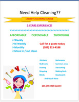 Need help cleaning? Look no further!