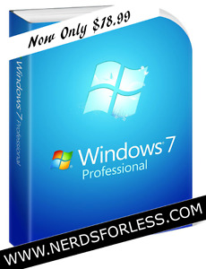 Windows 7/8/10 Professional : License & Software (NEW)...