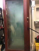 Wooden and   Fog   Glass Doors