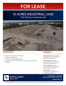10 Acres Industrial Land for Lease