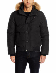 Tommy Hilfiger Mens Arctic Cloth Quilted Snorkel Bomber Jacket M