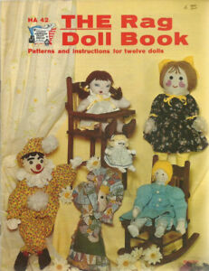 1976 The Rag Doll Book Hazel Pearson Sewing PATTERN/Instruction