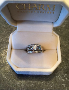 .60 carat diamond solitaire engagement ring & wedding bands