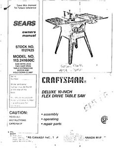 Craftsman 10-Inch Table Saw