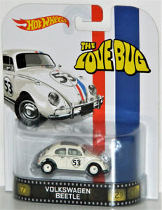 Hot Wheels Retro 1/64 #53 Herbie The Love Bug Diecast Car