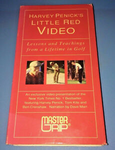 VHS: Harvey Penick's Little Red Video ~ Lessons Lifetime of Golf
