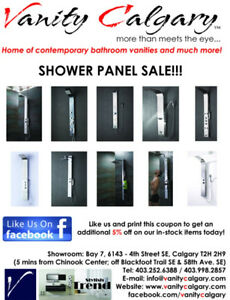 Shower Panel Clearance Sale!!!