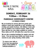 Mom 2 Mom/Yard Sale  Tables Still Available