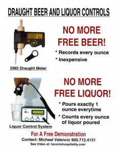 Draft Beer counters beer meters  liquor counters liquor meters