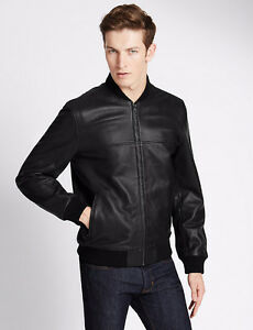 LIMITED EDITION Leather Bomber Jacket - Size M
