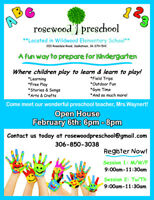 Rosewood Preschool (located in Wildwood Elementary) Open House