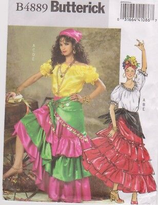 Butterick Pattern #4889 to make Gypsy/Carmen/Spanish/ Dancer Costumes Sz - Make Gypsy Costume