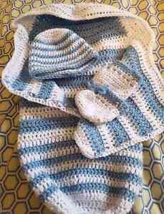 Hand made crochet items.