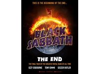 BLACK SABBATH STANDING TICKET MANCHESTER 22nd JANUARY- FACE VALUE £75