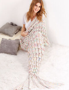 BRAND NEW Knitted Mermaid Blanket Super Warm and Cozy