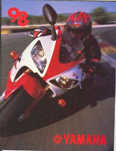 Yamaha motorcycles sales brochure 98