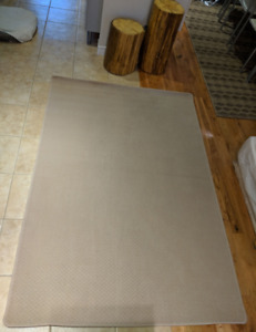 BEIGE LOOP PILE MODERN CARPET RUG