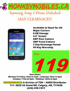Samsung Galaxy 2 Amp Prime - MAY CLEARANCE SALE!!