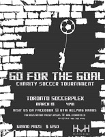 GO FOR THE GOAL: CHARITY SOCCER TOURNAMENT- $1250 GRAND PRIZE