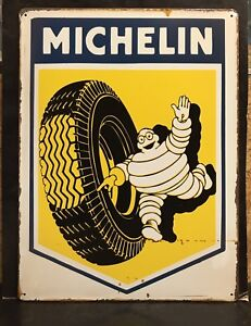 MICHELIN Man Tyre  Large METAL SIGN Vıntage Retro Garage Wall Decor 30X40 CM