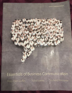 Essentials of Business Communication text book