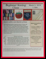 Sewing Course - one day only