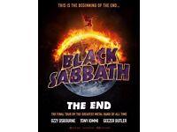 Black Sabbath- Final Ever Concert- Saturday 4th February 2016