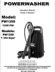 PowerWasher compact black unit with long wand n 25' hose newer
