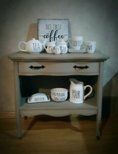 Antique Table Stand ~ Coffee Bar