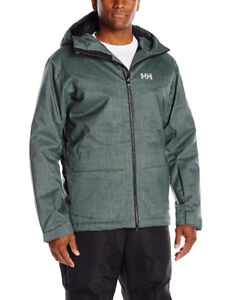 Helly Hansen Men's Nelson Insulated Ski Jacket, Rock, Small