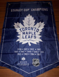 molson canadian toronto maple leafs stanley cup banner