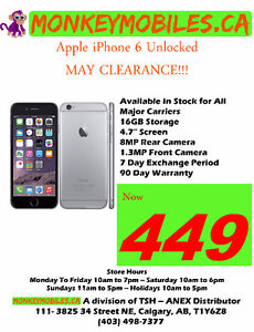 Apple iPhone 6 Unlocked - MAY CLEARANCE SALE!!