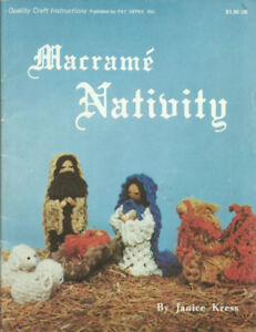 979 - Macrame NATIVITY MagazineIn excellent preowned condition