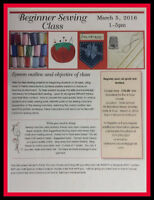 Beginner Sewing course - Learn to Sew
