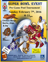Super Bowl Event Sunday February 7th Pre Game Pool Tournament  4