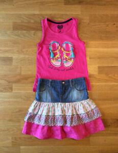 Lot Vêtements fille été 6 ans,Esprit,Hilfiger,Calzedonia,H&M,Jod