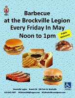 """""""Barbecue's"""" are back  at The Brockville Legion May 6th  Noon to"""