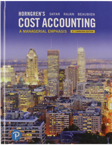 Horngren's Cost Accounting 8th Canadian Edition