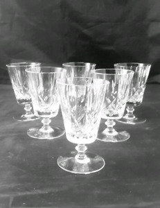 Crystal Cross and Olive Stemware wine liquor Glasses Set of 6