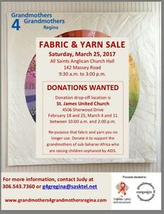 Fabric and Yarn donations
