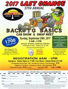 Last Chance Car Show and Swap Meet